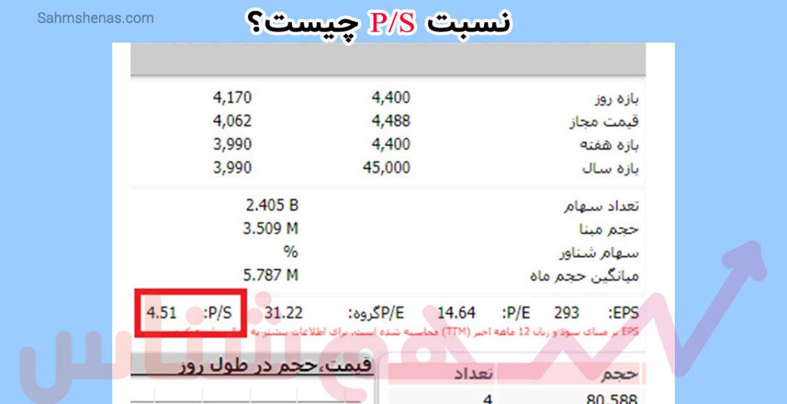 نسبت PS چیست